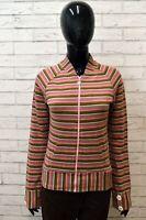 Maglione Donna DIESEL Taglia S Felpa Cardigan Pullover Sweater Cotone A Righe