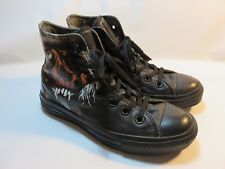 "CONVERSE ""METALLICA"" Black Leather High Tops Women's Size 5 Medium EUC"