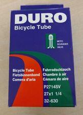"DURO Bicycle Inner Tube 27"" x 1 1/4 (32-630) Schrader (Car) Valve - Vintage Bike"