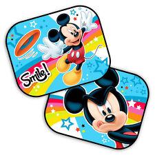 2 x Disney Mickey Mouse Car Sun Shade UV Baby Children Kids Window Visor 13