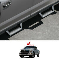 Fits 15-20 Ford F150/17+ F250 Super Crew Matte Black Hoop Drop Step Side Bars v2