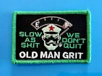 "OLD MAN GRIT Tactical Patch Hook and Loop 2"" x 3"" Glow in the Dark"