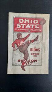 1917 Ohio State vs Illinois program; Chic Harley, George Halas, Hap Courtney