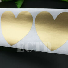 100Pcs Scratch Off Sticker 50x50mm Heart Shape Gold Color Blank  High quality