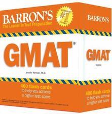 Barron's GMAT Flash Cards by Jennifer Herman (2014, Trade Paperback)