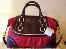 NWT Coach Leather Ashley Spectator Colorblock Beet Satchel Purse Handbag 17455