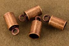 4mm Antique Copper Cord End Cap (24 Pcs) #MFD108
