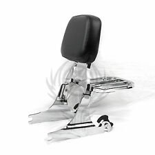 NEW Detachable Sissy Bar Backrest & Luggage Rack for Harley Deluxe FLSTN 05-17