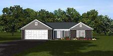 Custom Home House Plan 1,633 SF Ranch Home Blueprints  #1336