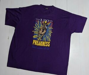 The 120th Preakness Stakes Horse Racing 1995 Graphic Tee XXL Hanes 90's Vintage