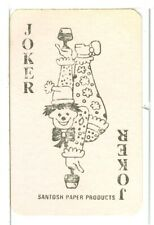 "Single Playing Card Joker ""Santosh Paper Clown Jester"", Foreign, circa 1980's"
