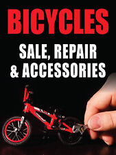 "BICYCLES SALE, REPAIR & ACCESSORIES 18""x24"" BUSINESS STORE RETAIL SIGNS"