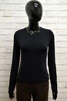 Maglia GAS Donna Taglia Size XS Maglietta Shirt Woman Manica Lunga Slim Fit Nero