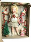 Old Antique Vintage Fairy Doll With Christmas Tree Decoration