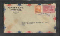 1949 PARRET & CO CARACAS VENEZUELA ADVERTISING COVER Scott # 415 + C239
