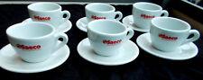 6 Original Saeco Kaffeetassen mit Untertassen, weiß, Gastro, Point  Italien