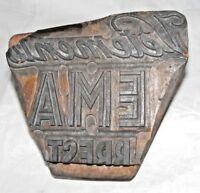 Francés Antiguo Publicidad Ropa Tallada Estampado Tipografía Bloque' Vetements