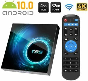 T95 Android 10.0 TV Box 4GB 32GB Quad Core HD 6K HDMI WIFI 5G  Media Player UK