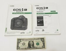 Canon Eos-1 Ds - Camera Instruction Manual and Software Instructions - No Disk