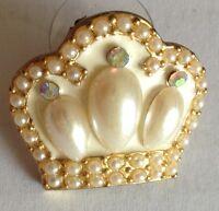 Pearl Style Ten Pin Bowling Badge Pin Brooch Rare Vintage (E3)