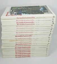 The World of Automobiles Illustrated Encyclopedia Motor Car -Complete Set 22 Vol