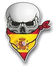 Skull With Face BANDANA & Spain Spanish Country Flag vinyl car sticker decal