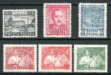 POLAND 1949 SELECTION (6), LIGHTLY MOUNTED MINT