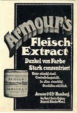 Armour`s Fleisch- Extract Hamburg / Wien Historische Reklame von 1908