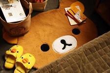 Hot San-X Rilakkuma Relax Bear Plush Mat Rug Carpet for Living Room Bedroom 35''
