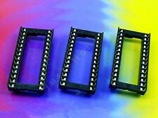 "Stk. 3 x DIP 28 W 0.6"" 15.2mm Breit / Wide IC SOCKEL / SOCKET #A549"