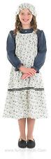 GIRLS VICTORIAN EDWARDIAN SCHOOL GIRL FANCY DRESS COSTUME OUTFIT NEW 3PC
