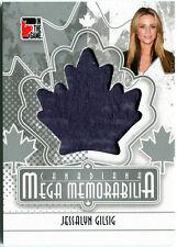 Jessalyn Gilsig 2011 ITG Canadiana Mega Memorabilia Worn Shirt SILVER /165 E3