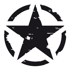 Matt Black US American Army Military Star Car Bumper Vinyl Decal Sticker Badge.