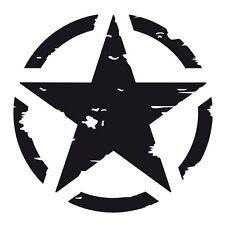 Matt Negro nos American Ejército Militar Estrella Parachoques Vinilo Autoadhesivo con distintivo.