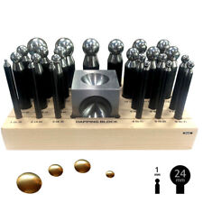 Dapping Set Punches & Block Steel Forming 24 pc for Jewelry Repousse Silversmith