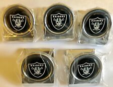 A LOT OF (5) NFL OAKLAND RAIDERS METAL CLIP MAGNETS (NEW)