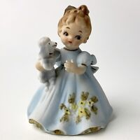"Vintage Marika's Original by Lefton Girl Holding Poodle 4.5"" - #4638"