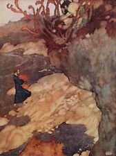 "EDMUND DULAC vintage mounted print, 12 x 10"", Shakespeare The Tempest ED14"