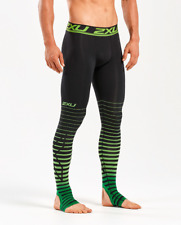 New 2XU Men Power Recovery Compr Tights Graduated Overfoot Stamping MA4417b