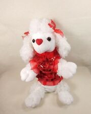 White Poodle with Red Ribbons & Sequin Outfit Bag Stuffed Plush by Charming Toy