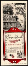 1943 Miller High Life Beer - Retro Brewery - Hospitality - Original Vintage Ad