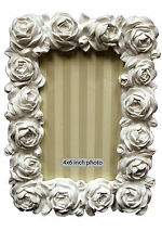 "White Rose 'Heart of House' Flora 6""x 4"" (15x10cm) Picture Frame"