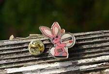 Energizer Bunny Pink Rabbit Batteries Drum Metal & Enamel Lapel Pin Pinback