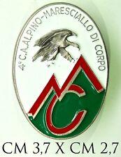 2205) Distintivo 4° Corpo d'Armata Alpino Maresciallo di Corpo modello Granero