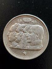 1948 Silver Belgium 100 Francs