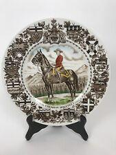 "Vintage Wood & Sons The Royal Canadian Mounted Police Plate Burslem England 10"""