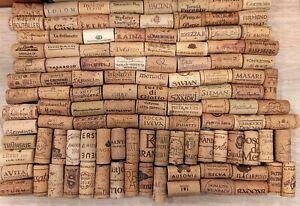 Lotto 500 tappi  vino usati cantine italia e non per collezionisti/appassionati