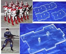 """Marauders 3.75"""" - CLEAR - IDS Foot Stands"""