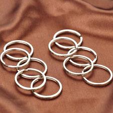 Key Holder Keyring Split Key Rings Alloy Hoop Chain Nickel Plated Loop D18mm