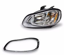 2002-2014 2015  Freightliner M2 100 106 112 Headlamp with Chrome Bezel - LEFT